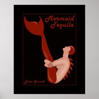 Mermaid Tequila Poster