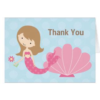 Mermaid Thank You Card