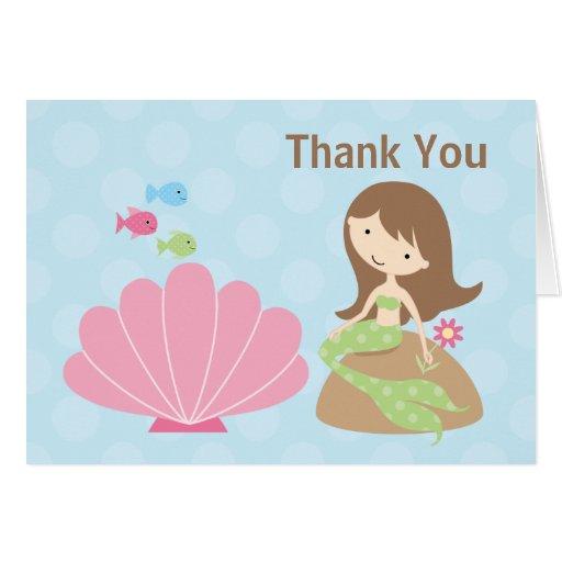 Mermaid Thank You Card Zazzle
