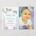 """Mermaid Thank You Card Under The Sea Thank You<br><div class=""""desc"""">Mermaid Thank You Card  All designs are &#169;PIXELPERFECTIONPARTYLTD</div>"""