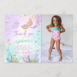 "Mermaid Thank You Card Under The Sea Thank You<br><div class=""desc"">Mermaid Thank You Card 
