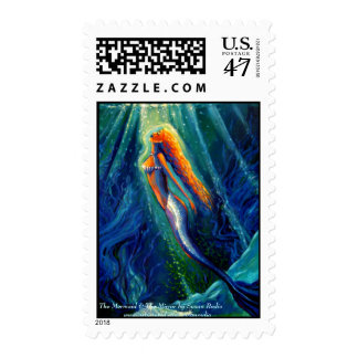 Mermaid & The Mirror by Susan Rodio Postage