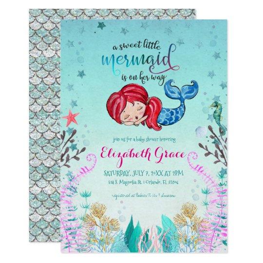 Mermaid Theme Baby Shower Invitation Zazzle