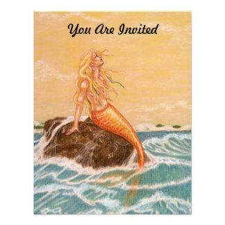 MERMAID THEMED PARTY INVITATION EZ TO CUSTOMIZE