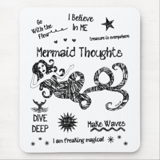 Mermaid Thoughts Mouse Pad