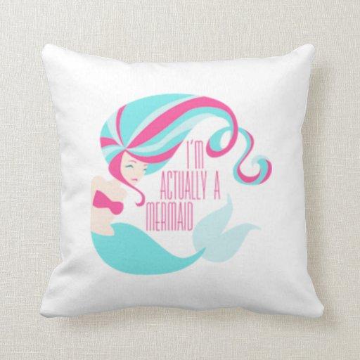 Throw Pillow Uses : Mermaid Throw Pillow Zazzle