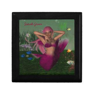 Mermaid Tile Box Keepsake Boxes