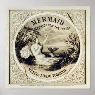 Mermaid Tobacco Poster