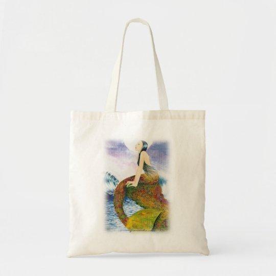 Mermaid tote beach shopping bag