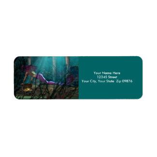 Mermaid Treasure Return Address Labels