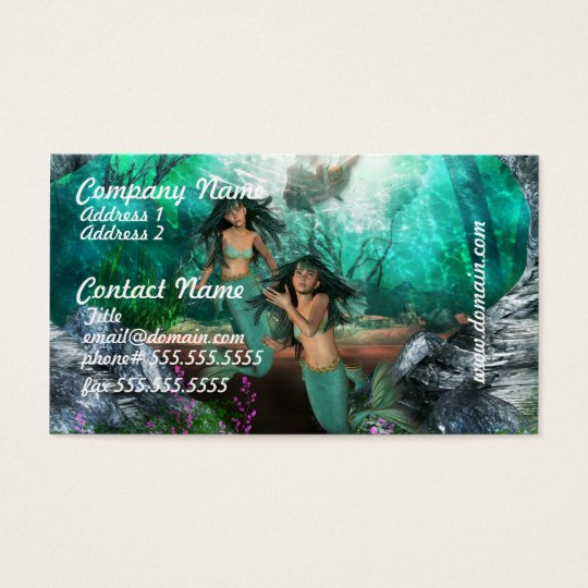 Mermaid Twins Business Cards