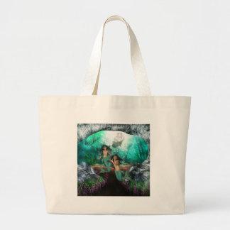 Mermaid Twins Canvas Bag