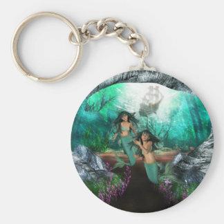 Mermaid Twins Keychain