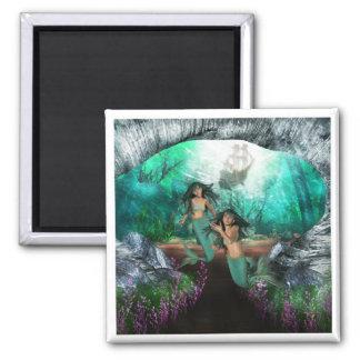 Mermaid Twins Magnet Refrigerator Magnet