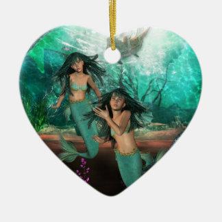 Mermaid Twins  Ornament