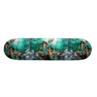 Mermaid Twins  Skateboard