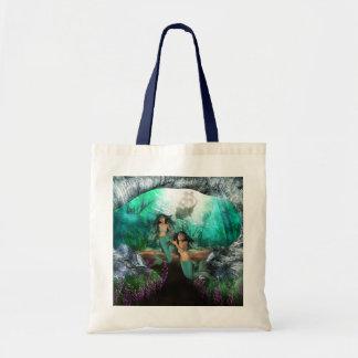Mermaid Twins Small Tote Bag