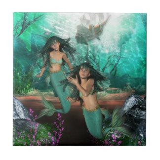 Mermaid Twins  Tile
