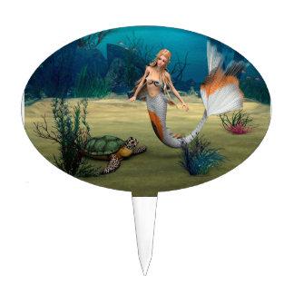Mermaid und Turtle Cake Topper