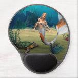 Mermaid und Turtle Gel Mouse Pad