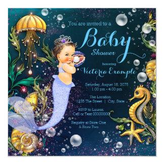 Mermaid Under the Sea Baby Shower Card