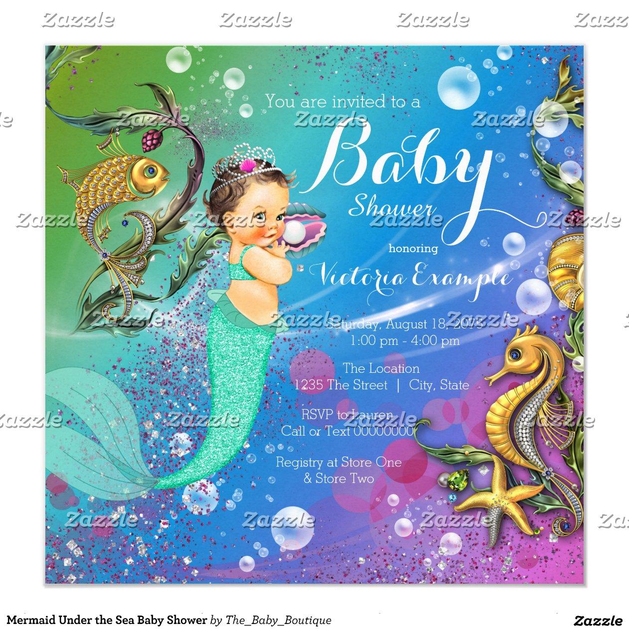 Mermaid Baby Shower Invitation was adorable invitation template
