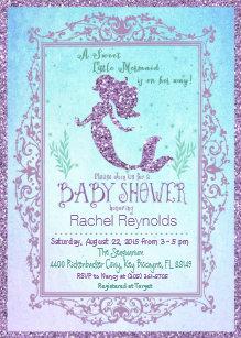 Under the sea baby shower invitations zazzle mermaid under the sea baby shower invitation filmwisefo