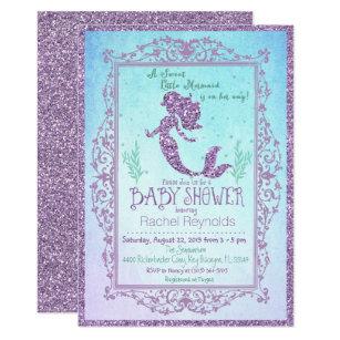 Mermaid Under The Sea Baby Shower Invitation