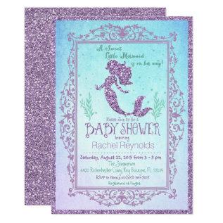 Mermaid Under The Sea Baby Shower Invitation at Zazzle