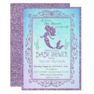 Toddler & Baby themed Mermaid Under the Sea Baby Shower Invitation