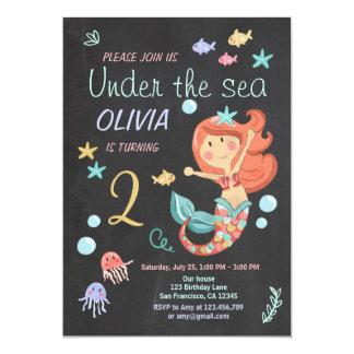 Mermaid Under the Sea Birthday Invitation Pool