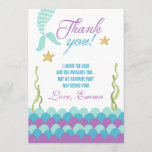 "Mermaid Under the Sea Birthday Thank You Card<br><div class=""desc"">♥ A cute and fun birthday thank you card to thank your guests!</div>"
