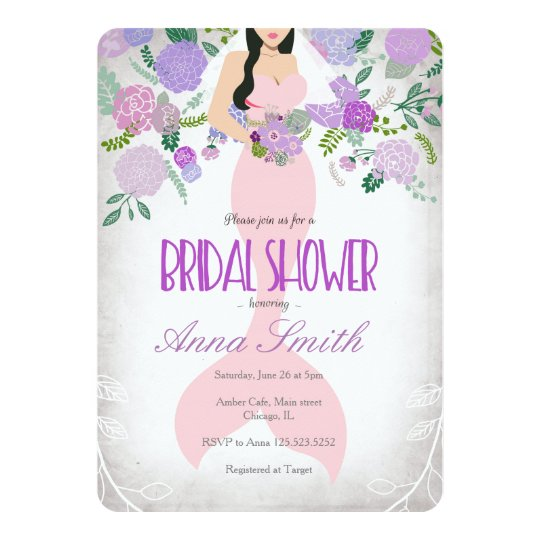 Mermaid under the sea bridal shower invite zazzle mermaid under the sea bridal shower invite filmwisefo