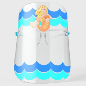 Mermaid Under the Sea Girls Face Shield