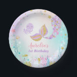 """Mermaid Under The Sea Paper Plate 7&quot; Paper Plates<br><div class=""""desc"""">Mermaid Under The Sea 7&quot; Paper Plate.   All designs are &#169; PIXEL PERFECTION PARTY LTD</div>"""