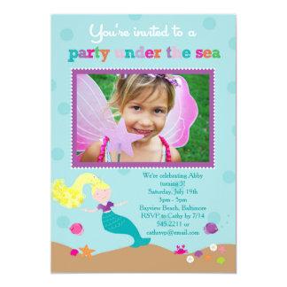 Mermaid Under the Sea Party Invitation