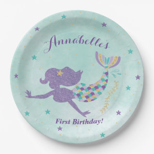Mermaid Under The Sea Party Paper Plates at Zazzle