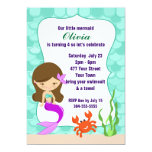 Mermaid Under The Sea Pool Party Personalized Invites