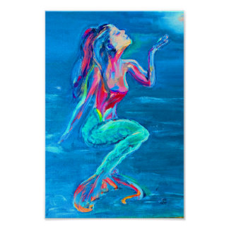 Mermaid Under the Sea Poster