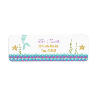 Mermaid Under The Sea Return Address Label