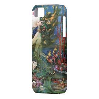 Mermaid UnderSea Fish Vintage Art Deco Iphone Case