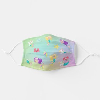 Mermaid Unicorn Cute For Kids Pattern Cloth Face Mask