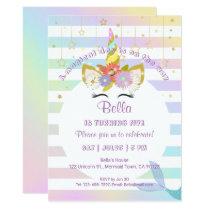 Mermaid Unicorn Rainbow Birthday Cards