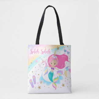 Mermaid & Unicorn Tote Bag