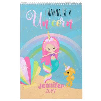 Mermaid Unicorns PHOTO Calendar - STARTS ANYTIME