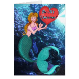 Mermaid Valentine Greeting Card