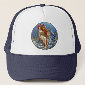 Mermaid Vintage Collage Gothic Whimsical Woman Trucker Hat