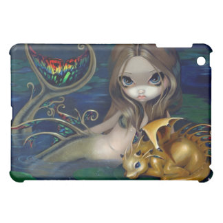 """""""Mermaid with a Golden Dragon"""" iPad Case"""