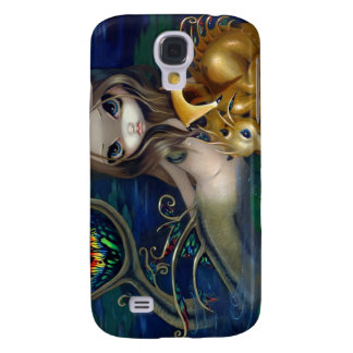 """""""Mermaid with a Golden Dragon"""" iPhone 3 Case"""