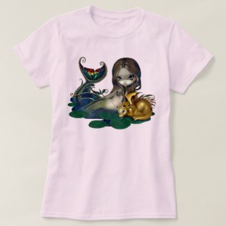 Image of Dragon and Mermaid T-Shirt for Women